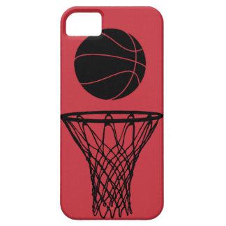 iPhone 5 toros de la silueta del baloncesto rojos iPhone 5 Carcasas