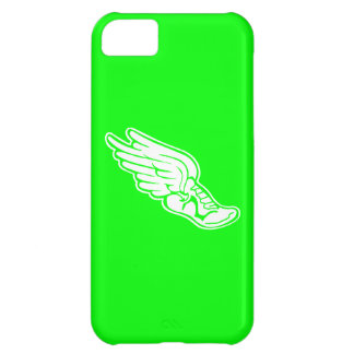 iPhone 5 Track Logo White on Green Cover For iPhone 5C