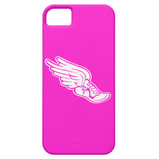 iPhone 5 Track Logo White on Pink iPhone 5 Cover