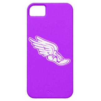 iPhone 5 Track Logo White on Purple iPhone SE/5/5s Case
