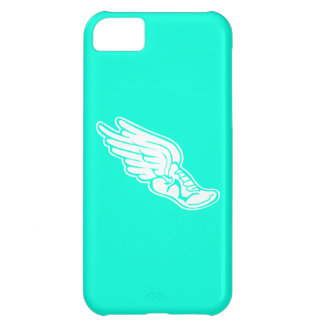iPhone 5 Track Logo White on Turquoise iPhone 5C Cover