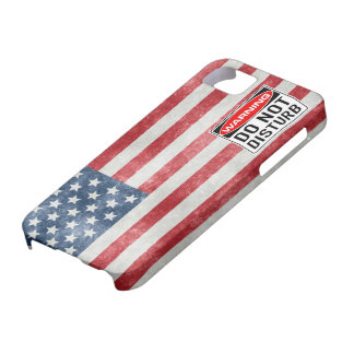 iPhone 5 USA Flag Military Do Not Disturb CASE iPhone 5 Case