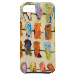 iphone 5 vibe case abstract art birds