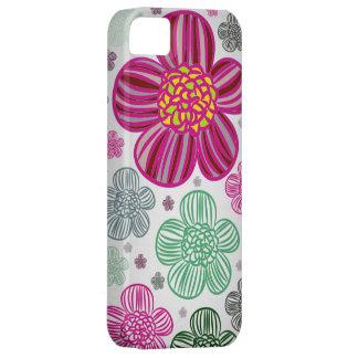 iPhone 5 Vibe Light Gray Flower Case