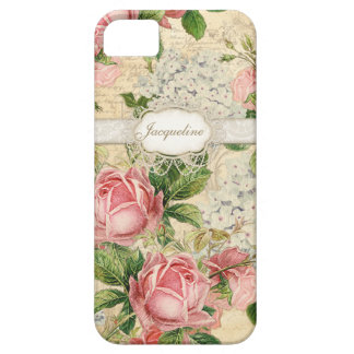 IPhone 5 - Vintage English Rose Lace n Hydrangea iPhone SE/5/5s Case