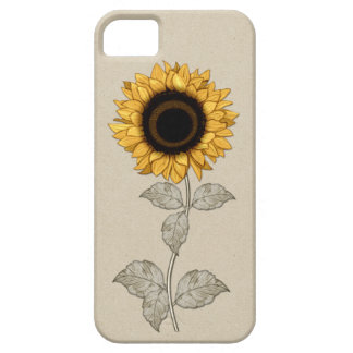 iPhone 5 Vintage Yellow Gold Sunflower iPhone SE/5/5s Case