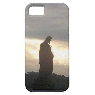 Iphone 5 y estatua del cristiano de la PUESTA DEL iPhone 5 Carcasas