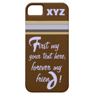 iPhone 5 - Your Text  and Customized w/Initials iPhone SE/5/5s Case