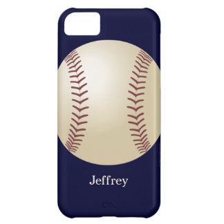 iPhone 5c Case, Baseball, Blue, Personalized iPhone 5C Covers