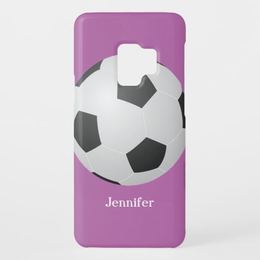 iPhone 5c Case, Soccer Ball, Purple, Personalized Case-Mate Samsung Galaxy S9 Case