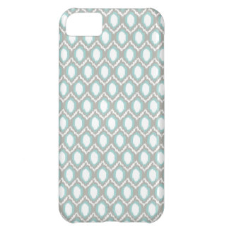 iPhone 5C iKat Case in Tiffany Blue, Grey and Whit