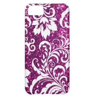 iPhone 5C Purple Glitter Case Cover For iPhone 5C