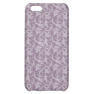 iPhone 5c Savvy Case: Lilies of the Valley, Mauve Cover For iPhone 5C