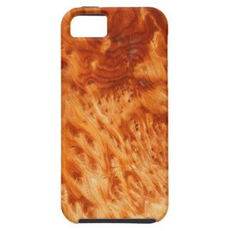 iPhone 5case de la viruta del Burl del fuego iPhone 5 Carcasa