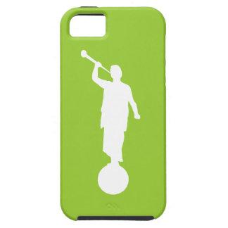 Iphone 5S/5 del caso de Moroni del ángel (verde iPhone 5 Funda