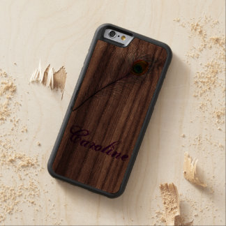 iPhone 5S Case Cherry iPhone 5 Case Peacock Design Carved® Walnut iPhone 6 Bumper