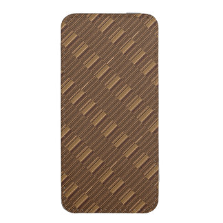 iPhone 5s Smartphone Pouch Golden Brown Strips FUN iPhone 5 Pouch