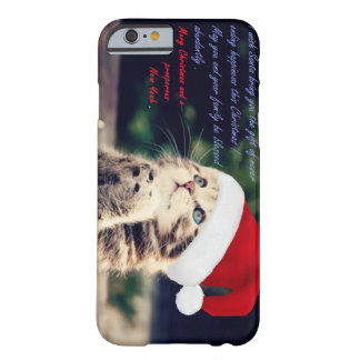 iPhone 6/6s, Barely There del gato del navidad Funda Barely There iPhone 6
