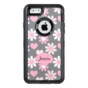 Iphone 6/6s Case | Daisies  Polka Dots  Hearts by NiteOwlStudio at Zazzle