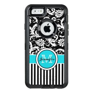 iPhone 6/6s Case | Monogram, Aqua, Black, White