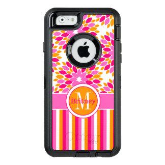 iPhone 6/6s Case | Monogram, Pink, Orange, White