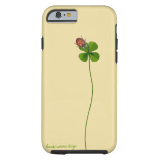 iPhone 6/6s case with four-leaf clover and ladybug