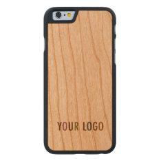 Iphone 6 6s Cherry Wood Case Custom Company Logo at Zazzle