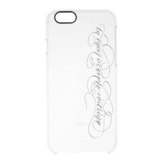 iPhone 6/6s Clearly™, tu enim in amore doctrina Clear iPhone 6/6S Case