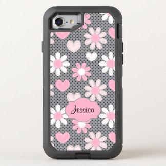 iPhone 6/6s | Daisies, Polka Dots, Hearts OtterBox Defender iPhone 7 Case