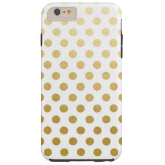 iPhone 6/6s de los lunares de la hoja de oro más, Funda Resistente iPhone 6 Plus