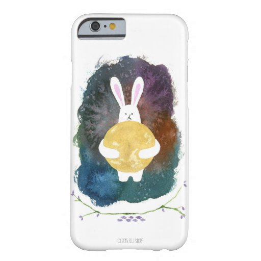 iphone 6/6s phone case: rabbit hugging moon barely there iPhone 6 case