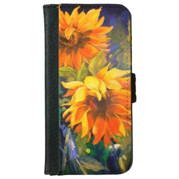 iPhone 6/6s Wallet Case sunflower design