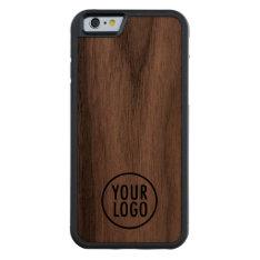 Iphone 6 6s Walnut Bumper Case Custom Company Logo at Zazzle