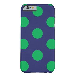iPhone 6 azules marinos y verdes del lunar del Funda Barely There iPhone 6
