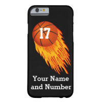 iPhone 6 Basketball Cases YOUR NAME and NUMBER