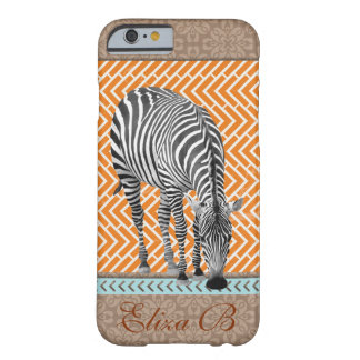 iPhone 6 Case Africa Zebra Monogram Blue Chevrons