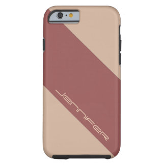 iPhone 6 Case Almond & Marsala Red One Stripe