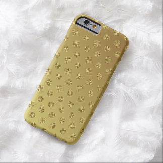 iPhone 6 Case Barely There Gold Polka Dot
