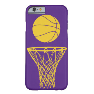 iPhone 6 case Basketball Silhouette Lakers Purple iPhone 6 Case