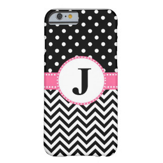 iPhone 6 case Black Chevron and Dots