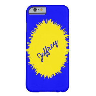 iPhone 6 Case, Blue and Yellow, Personalized Barely There iPhone 6 Case
