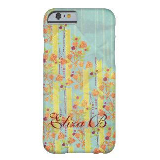 iPhone 6 Case Blue Yellow Orange Roses Monogram