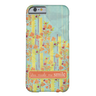 iPhone 6 Case Blue Yellow Orange Roses Smile