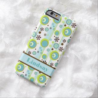 iPhone 6 Case   Circles   Aqua Green Brown