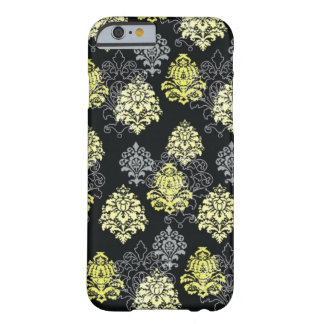 iPhone 6 case-Citron and Black Damask Barely There iPhone 6 Case