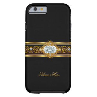 iPhone 6 case Elegant Classy Gold Black Floral