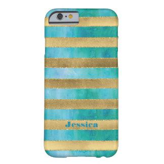 iPhone 6 Case | FAUX Gold Foil Stripe Watercolor 2