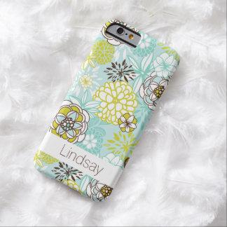iPhone 6 Case   Flowers   Aqua Green Brown