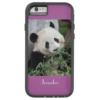 iPhone 6 Case Giant Panda Pale Purple Bkgnd