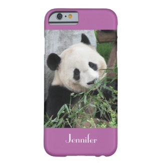iPhone 6 Case Giant Panda Radiant Orchid Bkgnd